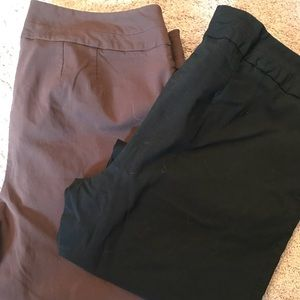18 Lane Bryant Capri pants. 2 pants for one price!